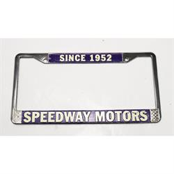 Speedway License Plate Frame