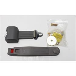 Grey Beams Push Button Retractable Lap Seat Belt, DOT Approved