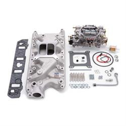 Edelbrock 2031 Single-Quad Intake Manifold/Carburetor Kit, Ford