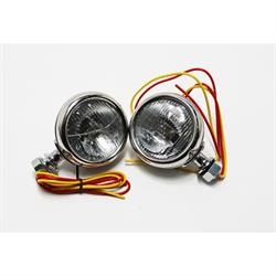 Speedway 1932 Ford Stainless Steel 12 Volt Cowl Lights, 3-1/2 Inc