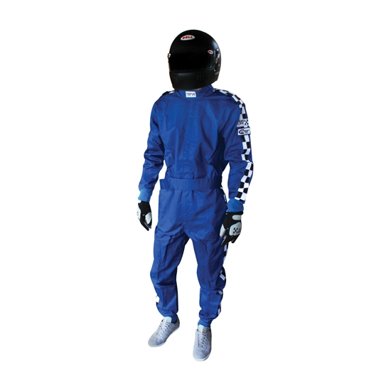 Finishline SFI-1 Qualifier 1-Piece Racing Suit, Blue XL