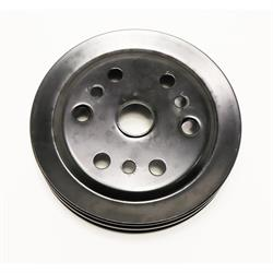Double Groove S/B Chevy Crank Pulley, Black