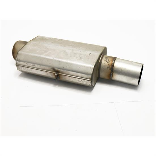 Hooker 21609HKR Maximum Flow Muffler, Single 4 Inch Centered Inle