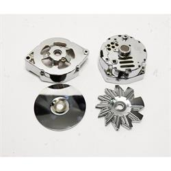 King Chrome Alternator Dress Up Kit for 1969-85 GM 10SI Alternato