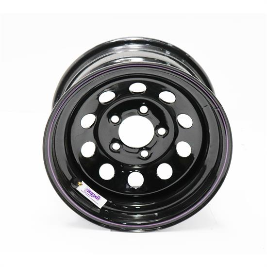 Black Circle Track 15 Inch Wheel, 15x7, 5 on 4 3/4, 3 In BS