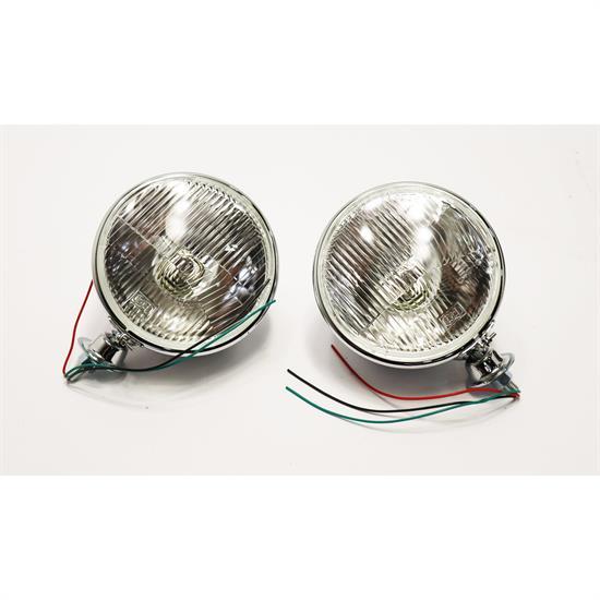 speedway king bee 12 volt halogen headlights  7 inch