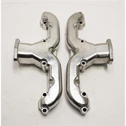 Smoothie Rams Horn Exhaust Manifolds, Small Block Chevy, Silver