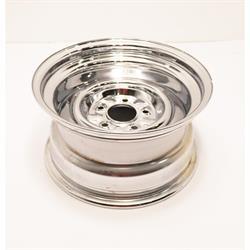 Speedway O/E Hot Rod Chrome Steel Wheel 15x8, 5 on 4.75, 4.25 BS