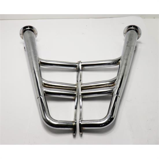 Small Block Chevy Lake Style Headers, Chrome