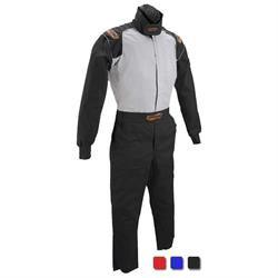 Speedway Black Racing Suit-One Piece-Single Layer, Large