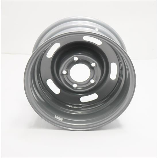 Speedway Steel GM-Style 15x7 Rally Wheel, 5 on 5, Silver
