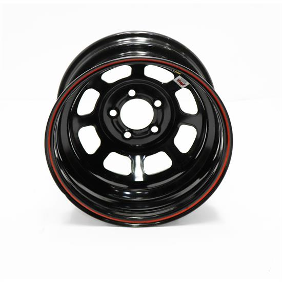 Basset 58DC1I 15X8 D-Hole 5 on 4.75 1 Inch IMCA Black Wheel