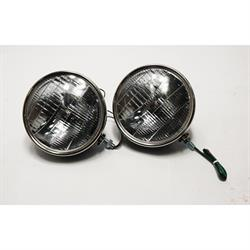 1934 Ford Commercial Headlights, 12V Halogen, 9-1/2 In Dia.