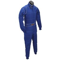 Speedway Blue 2 Layer Racing Suit-One Piece-SFI-5 Rated, Large