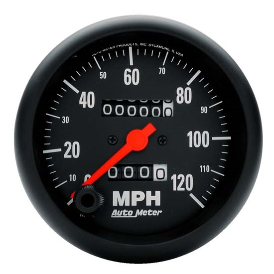 Auto Meter 2692 Z-Series Mechanical Speedometer, 120 MPH, 3-3/8