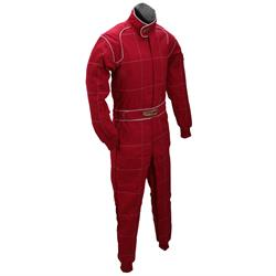 Speedway Red 2 Layer Racing Suit-One Piece-SFI-5 Rated, Large