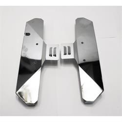 Small Block Chevy Louvered Exhaust Manifold Covers, Chrome, Pair