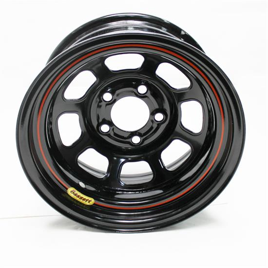 Bassett 57RJ2 15X7 Dot D-Hole 5 on 5.5 2 Inch BS Black Wheel