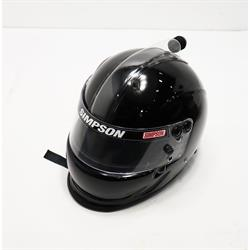 Simpson Air Inforcer Vudo SA2015 Racing Helmet, Black, 7 5/8