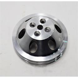 Small Block Chevy Aluminum Double Upper Pulley, Short Pump