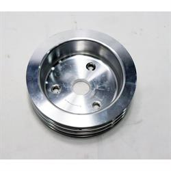 Small Block Chevy Aluminum Triple Lower Pulley, Short Pump