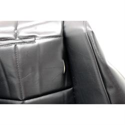 EMPI 62-2408 Poly Low Back Bucket Seat Cover, Black Squares