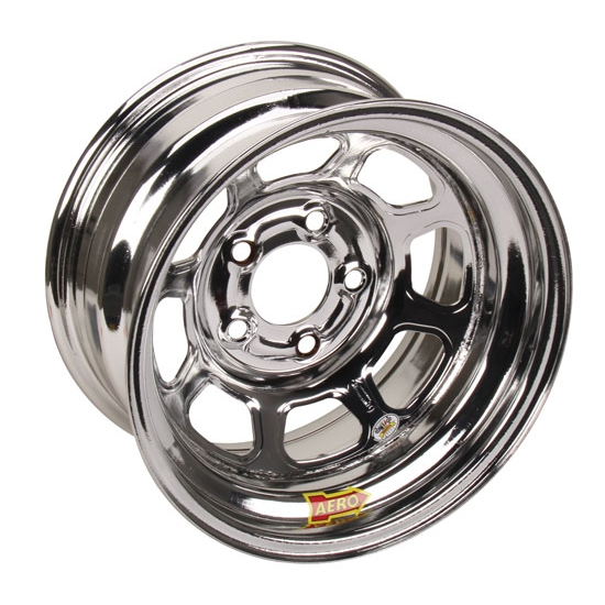 AERO 52 Series 15x8 Chrome Wissota Certified Wheel-4 Offset, 5x5