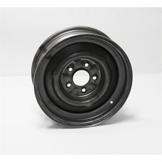 Speedway O/E Style Hot Rod Raw Steel Wheel, 15x5, 5 on 4.75, 3.0