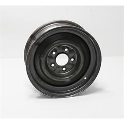 Speedway O/E Style Hot Rod Raw Steel Wheel, 15x5, 5 on 4.75, 3.0