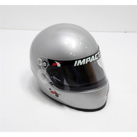 Impact 1320 Side Air SA2015 Racing Helmet, Silver, Medium