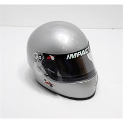 Impact 1320 Side Air SA2015 Racing Helmet, Silver, Medium