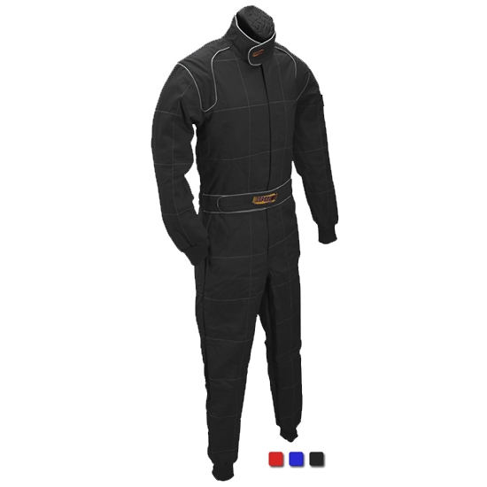 Speedway Black 2 Layer Racing Suit-One Piece-SFI-5 Rated, Medium