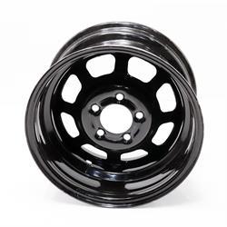 Bassett D58DC4 15X8 DOT D-Hole 5x4.75 4 Inch Bckspc Black Wheel
