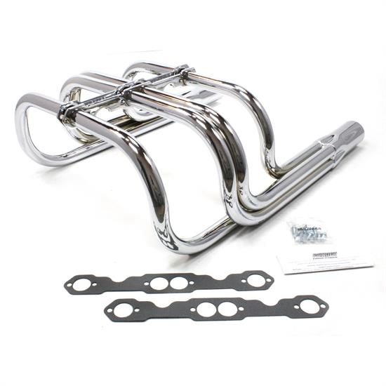 Patriot Exhaust H8060 Roadster Header, Street Rod, T-Bucket, Chr