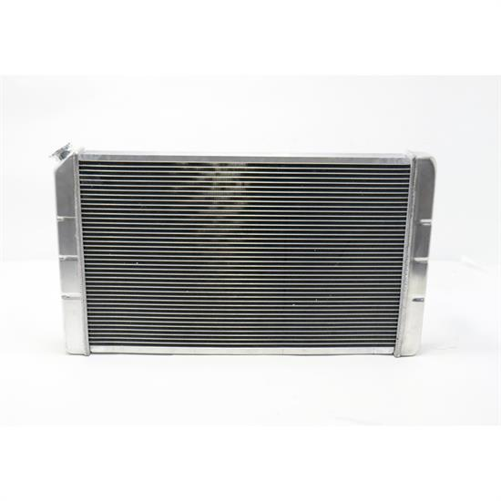 Speedway 28 In. Double Pass Aluminum Racing Radiator, S/B Chevy