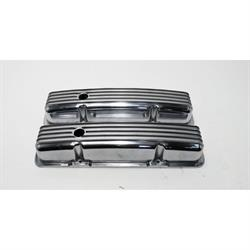 Short Finned Small Block Chevy Valve Covers w/Holes