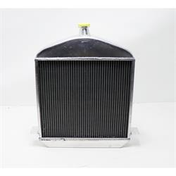 Speedway 1917-1923 T-Bucket Buffed Aluminum Radiator-Chevy Outlet