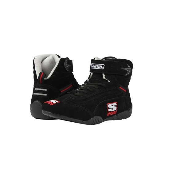 Simpson SFI-5 Suede/Nomex Lined Racing Shoes, Black, Youth 1