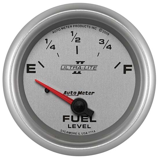 AutoMeter 7714 Ultra-Lite II Air-Core Fuel Level Gauge, 2-5/8 In