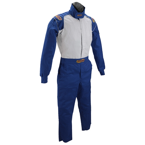 Speedway Blue Racing Suit-One Piece-Single Layer, XL